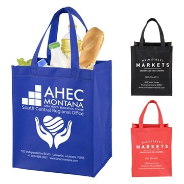 ''Full View Junior'' Large Imprint Grocery Shopping Tote Bag