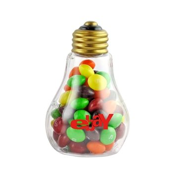 Plastic Light Bulb with Skittles