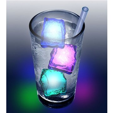 Frosty LED lighted ice cube