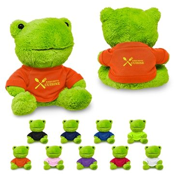 7'' Plush Frog With T-Shirt