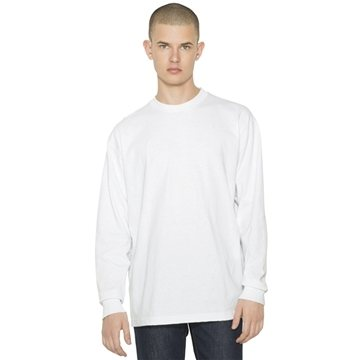 American Apparel Unisex Heavy Jersey Long-Sleeve Box T-Shirt
