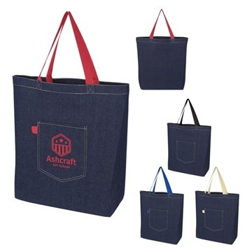 Demi Denim Tote Bag