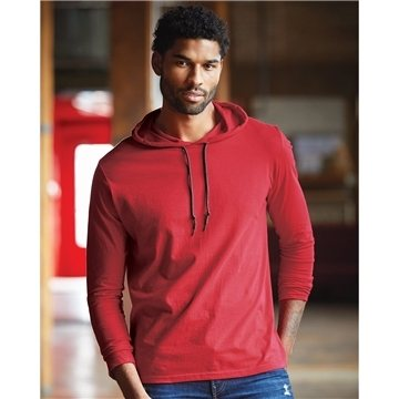 Anvil - Lightweight Long Sleeve Hooded T-Shirt