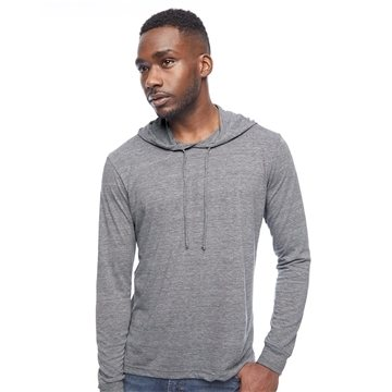 American Apparel - Unisex Triblend Long Sleeve Hooded T-Shirt