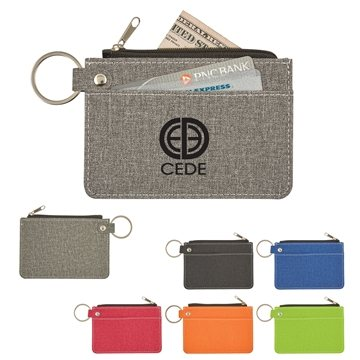 Heathered Card Wallet With Key Ring