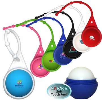 Halcyon® Round Lip Balm with Lanyard, Full Color Digital