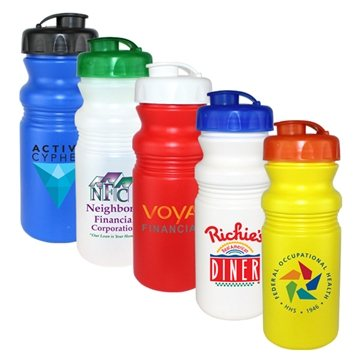 20 oz Cycle Bottle with Flip Top Cap, Full Color Digital Direct