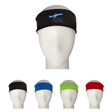 92/8 Polyester/Spandex Cooling Headband