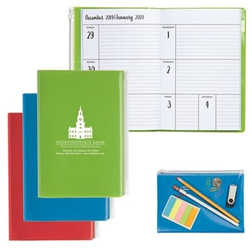 Monthly Weekly Planner with Clear Pocket