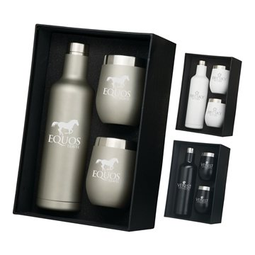 Bliss Wine Bottle & 2 Tumbler Gift Set