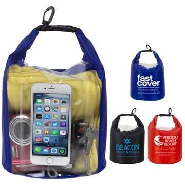 "The Navagio"" 5.0 Liter Water Resistant Dry Bag With Clear Pocket Window"