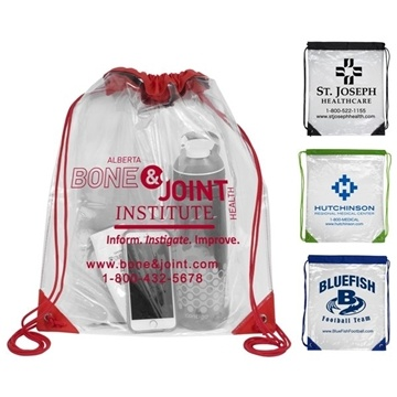 Everest' Clear Drawstring Cinch Pack Backpack