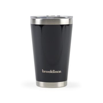 Aviana™ Vale Double Wall Stainless Pint - 16 oz - Black Opaque Gloss