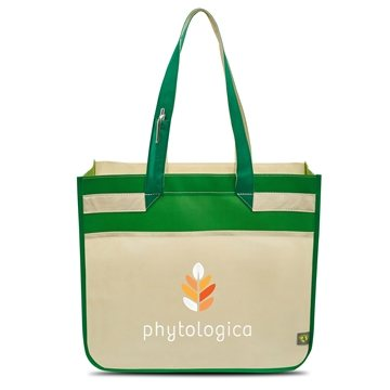 Sedona Laminated Shopper - Kelly/Apple