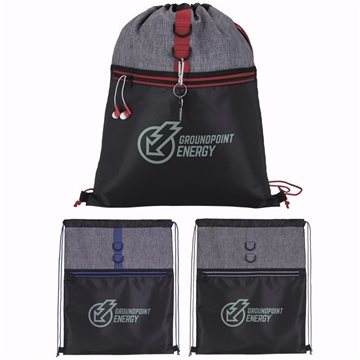 Stand Alone Drawstring Backpack