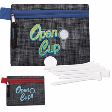 Golf Tee Kit - 2-3/4'' with Printed Non-woven Pouch