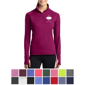 Sport-Tek® Ladies' Sport-Wick® Stretch 1/2-Zip Pullover