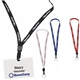 Promotional 1/2 Inch Polyester Lanyard With Key Ring