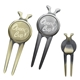 Promotional Deluxe Magnetic Divot Repair Tool with Ball Marker