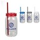 Promotional 25 oz Mason Jar w / Infuser and Straw