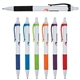 Promotional Galaxy White Pen w / Colored Gripper Accents