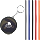 Promotional Reusable Silicone Straw Keychain
