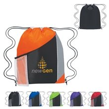 c37a324490 Promotional Custom Tri - Color Sports Pack 13 X 17.75 - Polyester
