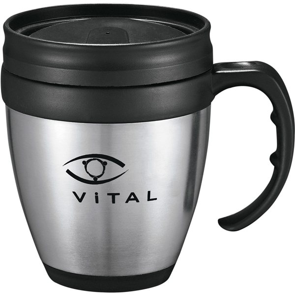 Promotional 14 oz Stainless Steel w / Plastic Liner Tumbler