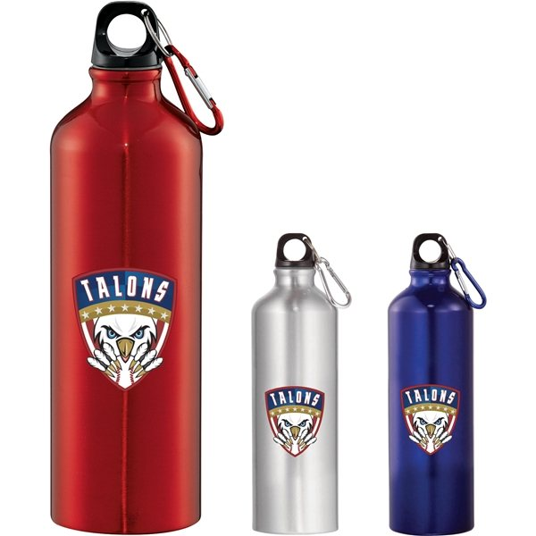Promotional 26 oz Santa Fe Aluminum Water Bottle