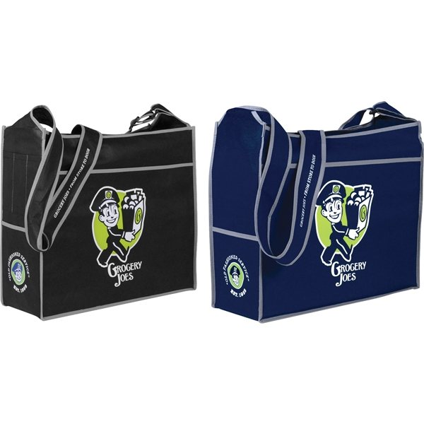 Promotional Deluxe Box Non - Woven Convention Shoulder Tote
