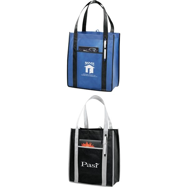 Promotional Contrast Non - Woven Carry - All Tote