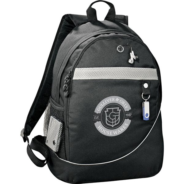 Promotional Polycanvas Backpack with loop closure