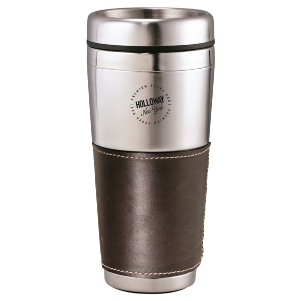 Promotional Cutter Buck(R) American Classic Leather Tumbler 16 oz