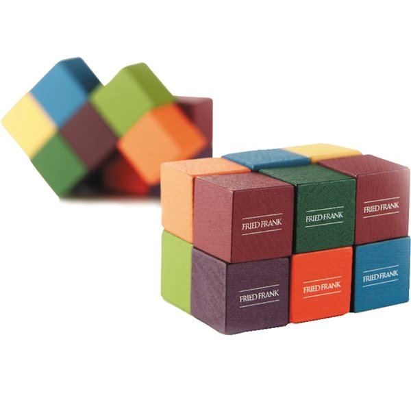 Promotional Icon Mental Wooden Block Puzzle