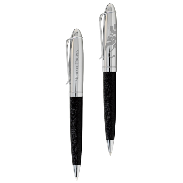 Promotional BIC (R) Leather Barrel Ballpoint Pen