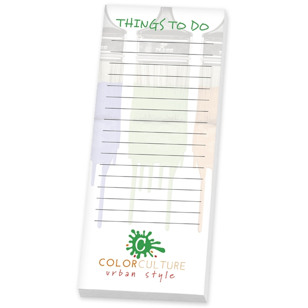 Promotional BIC(R) 3 x 8 Adhesive Notepad, 25 Sheet Pad