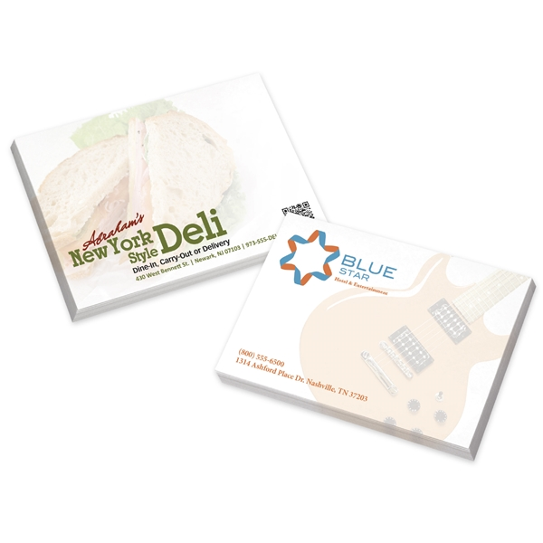 Promotional BIC(R) Ecolutions(R) 4 x 3 Adhesive Notepad, 100 sheet