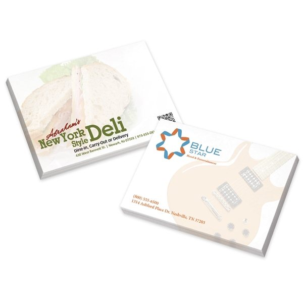 Promotional BIC(R) (R)Ecolutions(R) 4 x 3 Adhesive Notepads 25 sheet pad