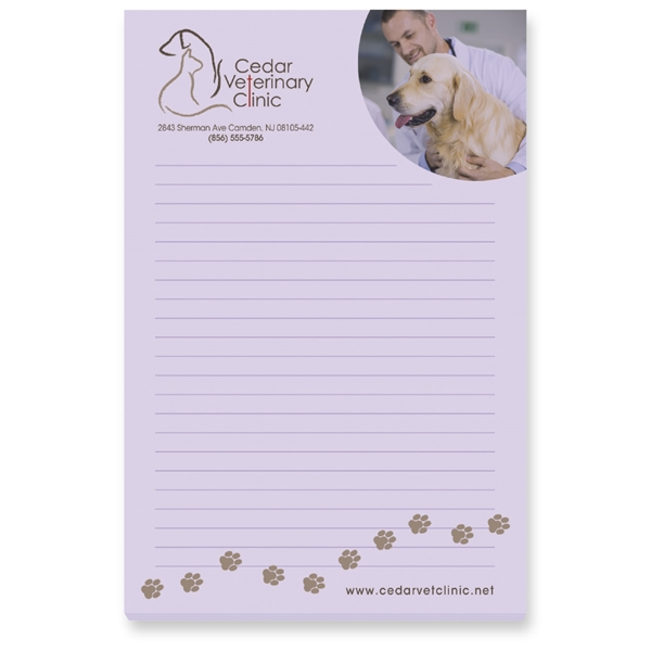 Promotional 50 Sheet Adhesive Scratch Pads 4 X 6
