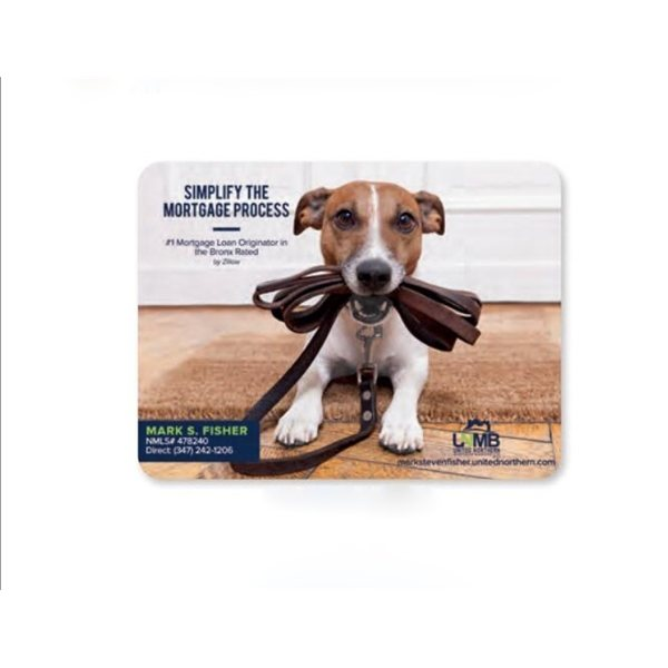 Promotional 1/16 Heavy Duty Base + OriginL Fabric Surface Mouse Pad, 1/16 x 6 x 8