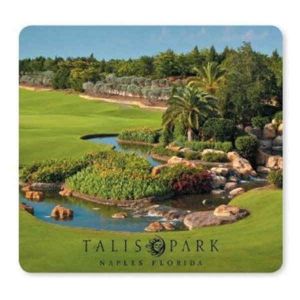 Promotional 1/16 Heavy Duty Base + OriginL Fabric Surface Mouse Pad, 1/16 x 7 1/2 x 8