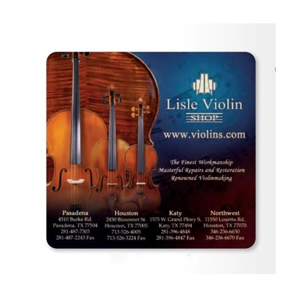 Promotional 1/8 Heavy Duty Base + OriginL Fabric Surface Mouse Pad, 1/8 x 7 1/2 x 8