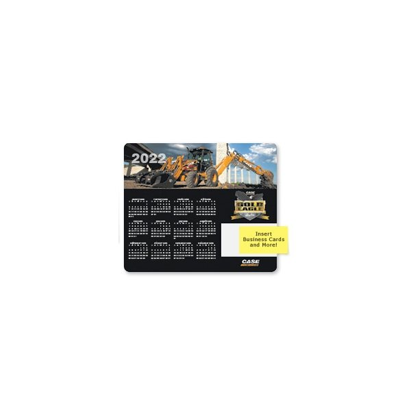 Promotional 1/16 Heavy Duty Base + Vynex Surface Frame - It(R) Business Card Window Mouse Pads, 1/16 x 8 x 9 1/2