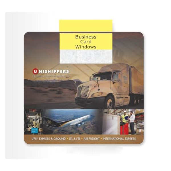 Promotional 1/8 Heavy Duty Base + Vynex Surface Frame - It(R) Window Mouse Pads, 1/8 x 7 1/2 x 8