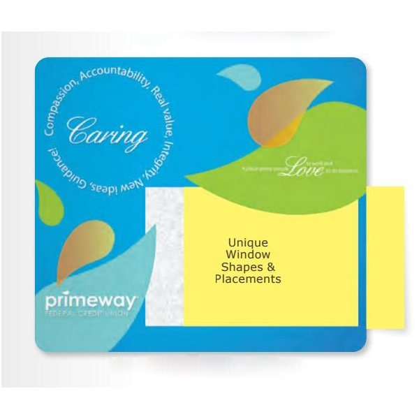 Promotional 1/8 Heavy Duty Base + Vynex Surface Frame - It(R) Window Mouse Pads, 1/8 x 8 x 9