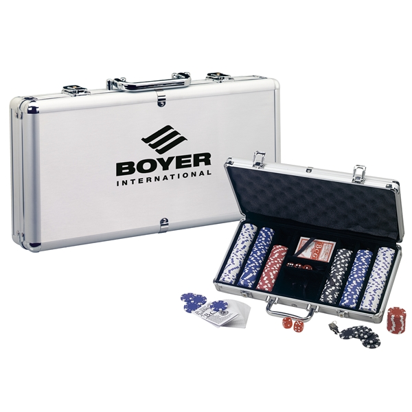 Promotional Deluxe Poker Set with Aluminum Carrying Case