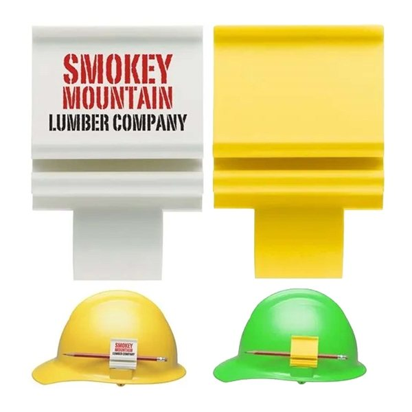 Promotional Hard Hat Clip Slot Mounted