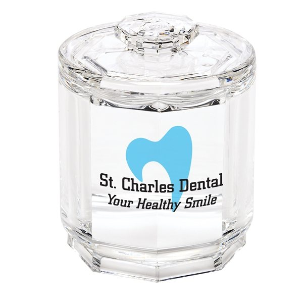 Promotional Acrylic Canister with Lid
