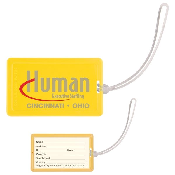 Promotional NatureAd(TM) Corn Plastic Luggage Tag