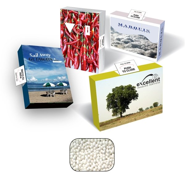 Promotional Environmentally Friendly Advertising Mint, Candy, or Gum Box